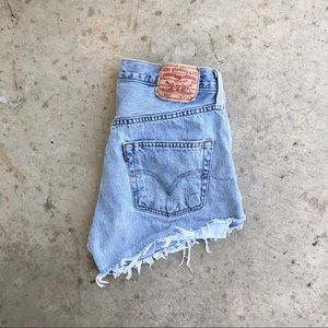 "Levi's 33"" Hi-Rise Denim Cutoffs"